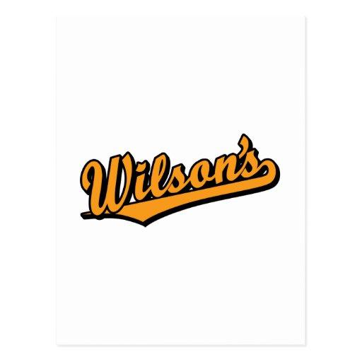 Wilson's in Orange Post Card