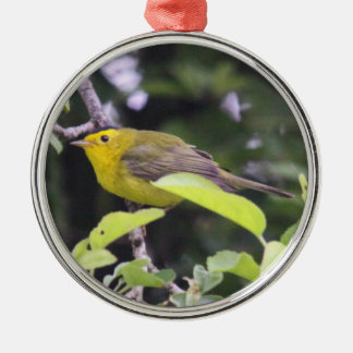 Wilson's Warbler Christmas Ornament