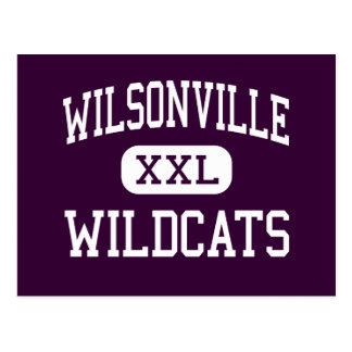 Wilsonville - Wildcats - High - Wilsonville Oregon Postcard