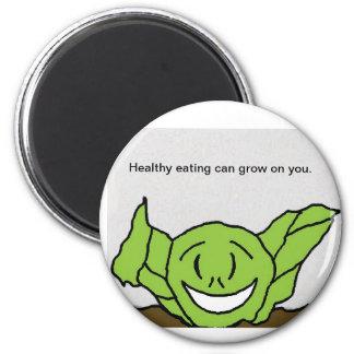Wilt lettuce label 6 cm round magnet