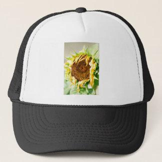Wilting sunflower trucker hat