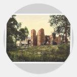 Wilton Castle, Ross-on-Wye, England rare Photochro Round Sticker