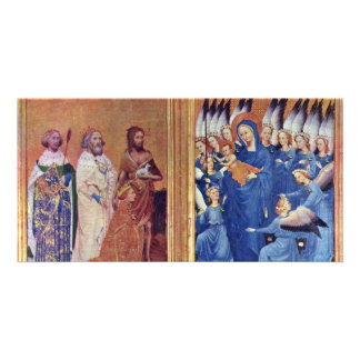 Wilton Diptych Overview By Meister Des Wilton-Dipt Personalized Photo Card