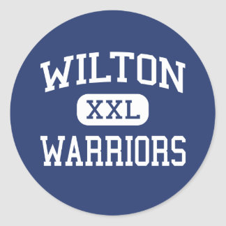 Wilton - Warriors - High - Wilton Connecticut Classic Round Sticker