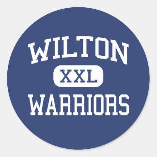 Wilton - Warriors - High - Wilton Connecticut Round Sticker