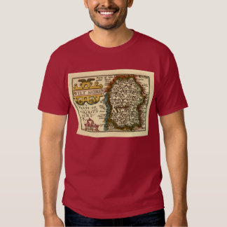Wiltshire County Map, England Shirt