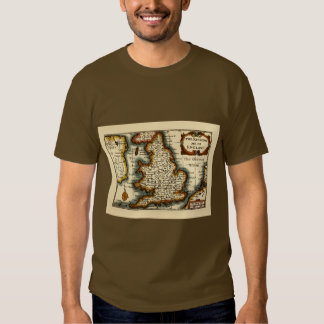 Wiltshire County Map, England T-shirts