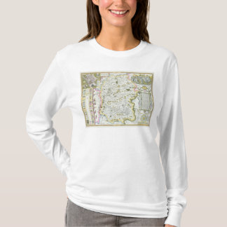 Wiltshire, engraved by Jodocus Hondius T-Shirt