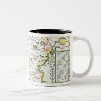 Wiltshire, engraved by Jodocus Hondius Two-Tone Coffee Mug