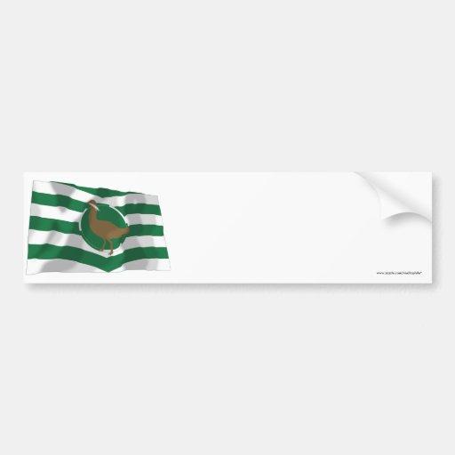Wiltshire Waving Flag Bumper Sticker
