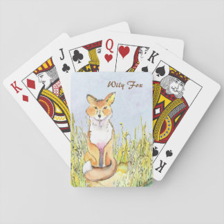 Wily Fox playing cards (a286)