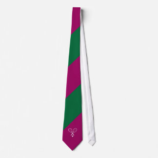 Wimbledon Green Purple Tie