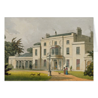 Wimbledon House, from Ackermann's 'Repository of A Card