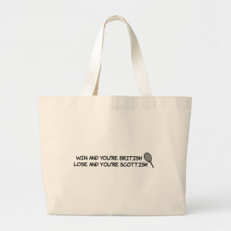 Win at tennis and your British... Large Tote Bag