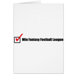 Win Fantasy Football League : Check Greeting Card