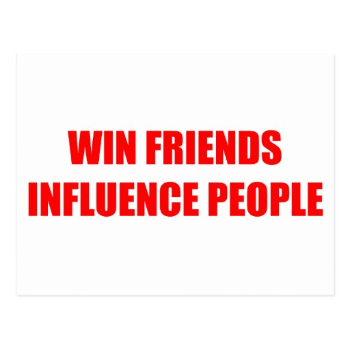 Win Friends Influence People Postcards