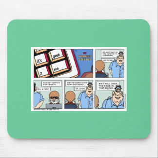Win in a flat world! mouse mat