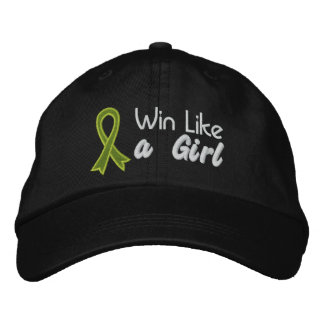 Win Like a Girl - Lymphoma Embroidered Hats