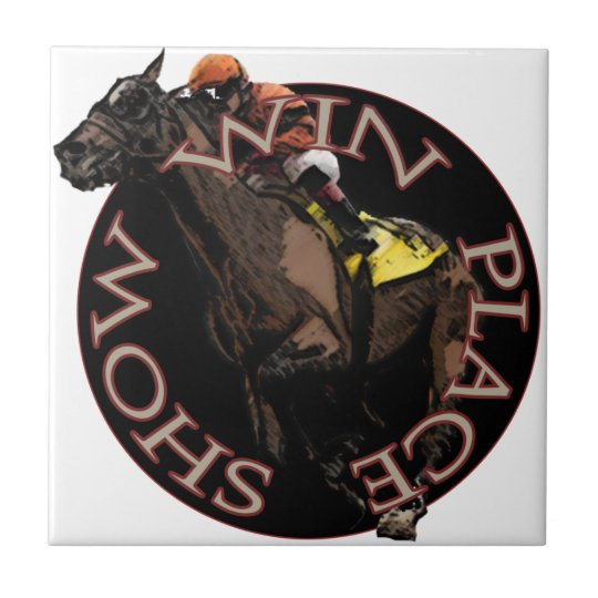Win, Place, Show - Horse Racing Gear Small Square Tile