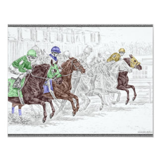 Win Place Show Race Horses Card