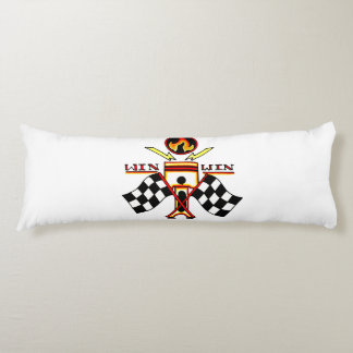 Win Win Men's Piston Checkered Racing Flag Body Cushion