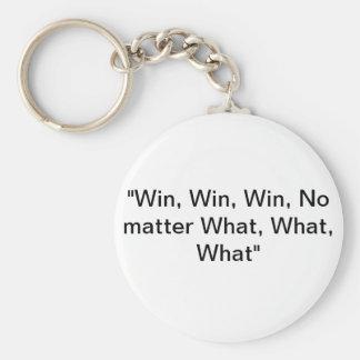 Win Win Win Basic Round Button Key Ring