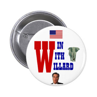 Win With Willard 2012 Pinback Buttons