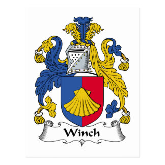 Winch Family Crest Postcard