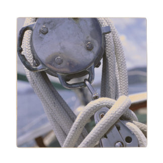 Winch On Boat Wood Coaster