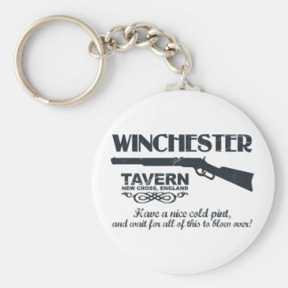 Winchester Beer Basic Round Button Key Ring