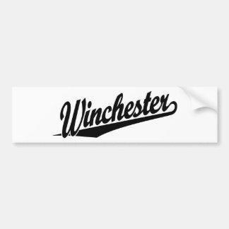 Winchester black bumper sticker
