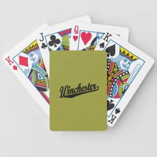 Winchester black bicycle playing cards