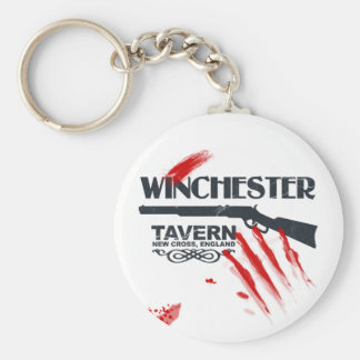 Winchester Bloody Basic Round Button Key Ring