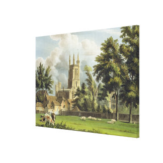 Winchester College from the Meadow, from 'History Canvas Print