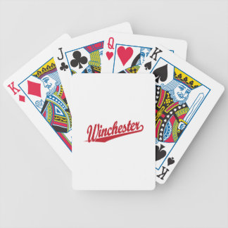 Winchester red poker cards