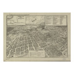Winchester Virginia 1926 Antique Panoramic Map Poster