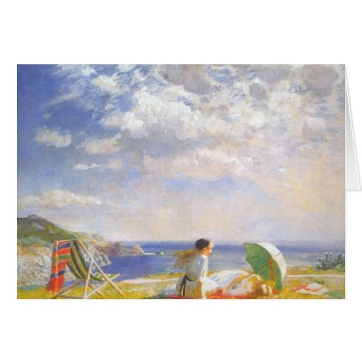 Wind and Sun by Dame Laura Knight Greeting Cards