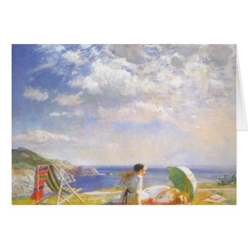 Wind and Sun by Dame Laura Knight Cards