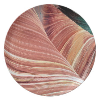 Wind and water eroded Navajo  sandstone in Dinner Plates