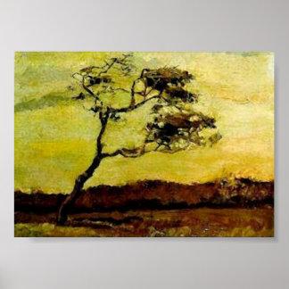 Wind-Beaten Tree (F10) Van Gogh Fine Art Poster