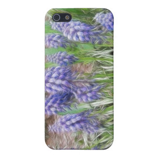 Wind Blown Grape Hyacinths Case For iPhone 5
