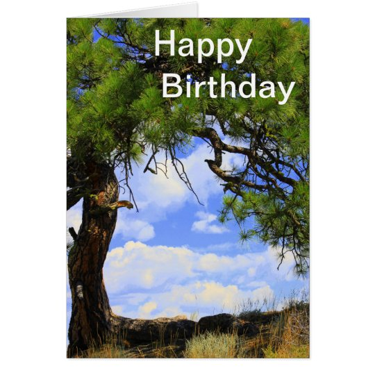 Wind Blown - Happy Birthday Card