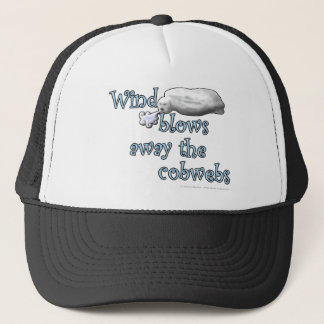 Wind blows away the cobwebs trucker hat