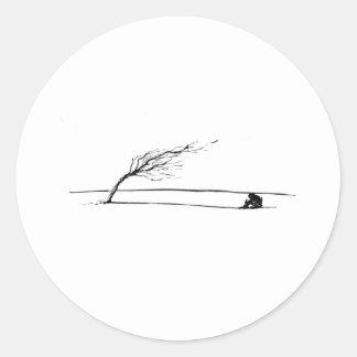 Wind Classic Round Sticker