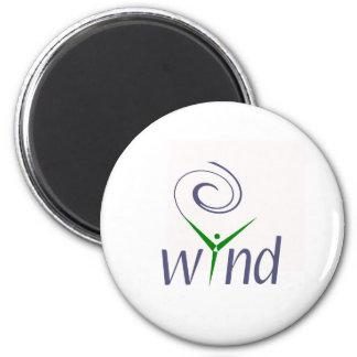 Wind Energy 6 Cm Round Magnet