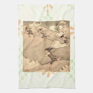 Wind Faeries Catching Wind Tea Towel