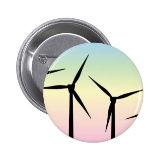 Wind Farm Morning 6 Cm Round Badge
