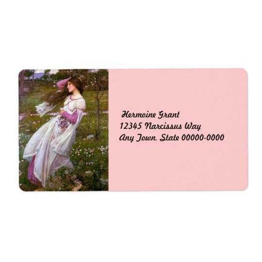 Wind Flowers in the Meadow Shipping Label