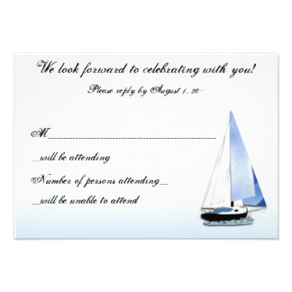WIND IN MY SAIL Sailboat Sailing RSVP Reply Notes Custom Invites