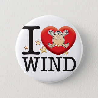 Wind Love Man 6 Cm Round Badge